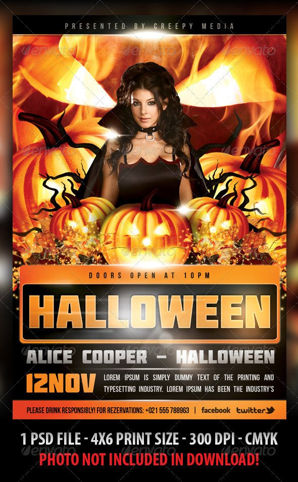 Free Halloween Flyer Templates Halloween Flyer by Fadeink