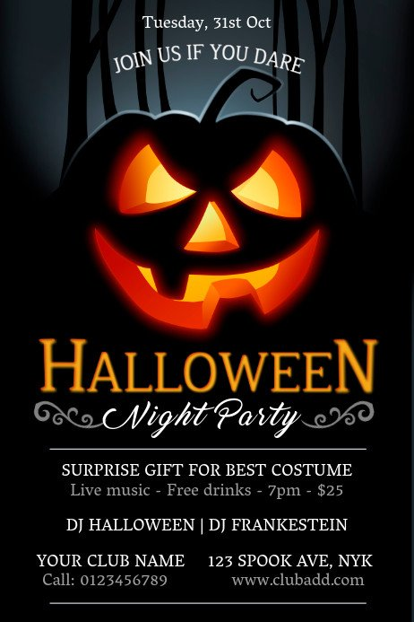 Free Halloween Flyer Templates Party Flyers Templates Prints & Downloads