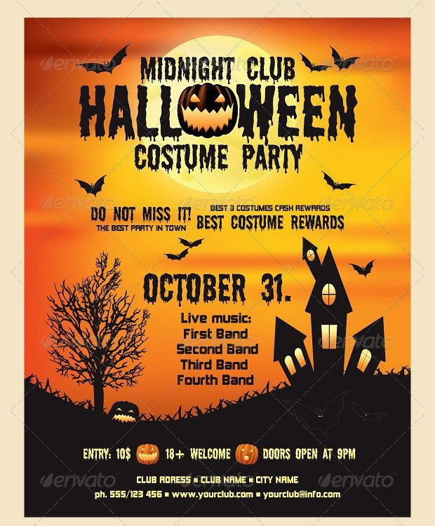 21 Halloween Flyer Designs and Templates Download
