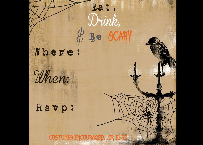 Free Halloween Invitations Templates Printable Free Halloween Invitation Templates Printable