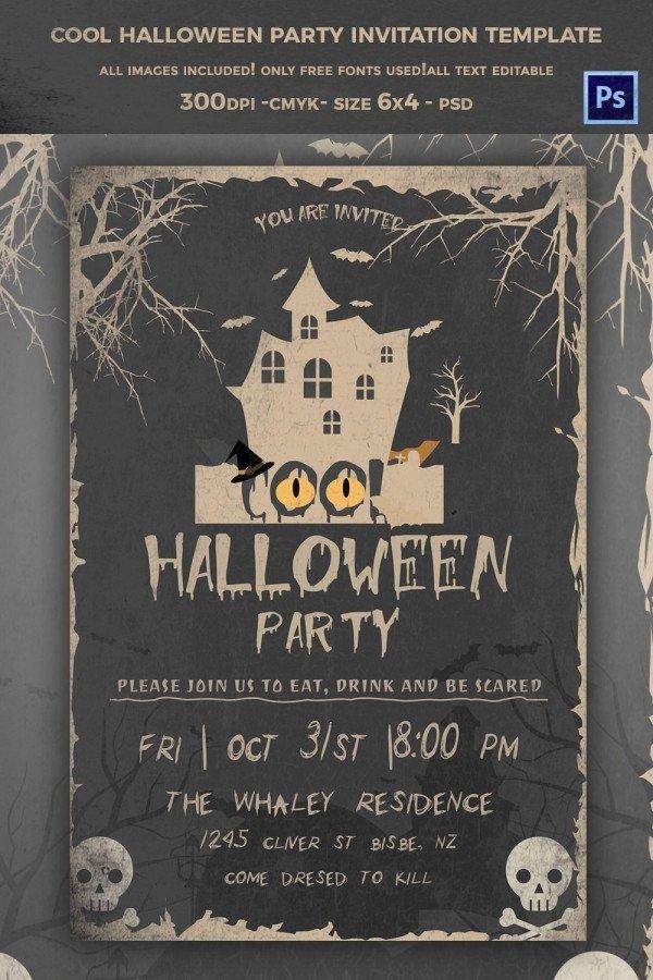 Free Halloween Invite Templates 35 Halloween Invitation Free Psd Vector Eps Ai