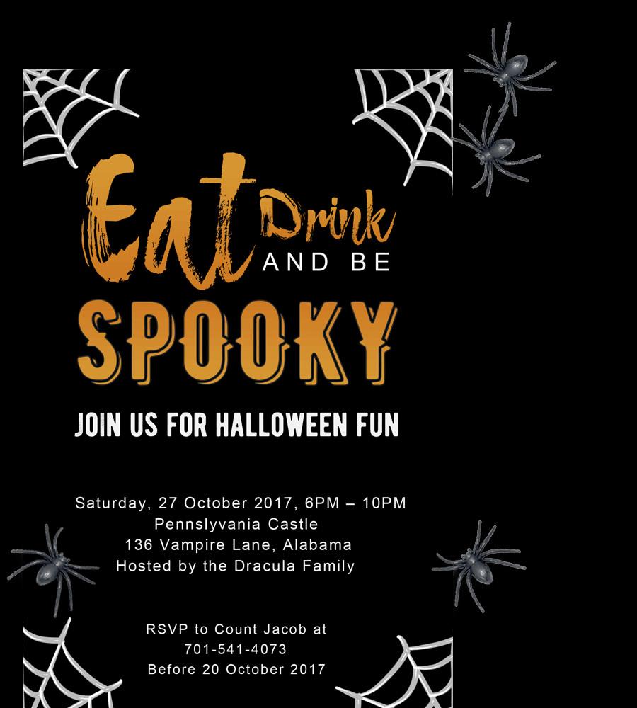 Free Halloween Invite Templates Free Printable Halloween Party Invitations 2018 [ Template]