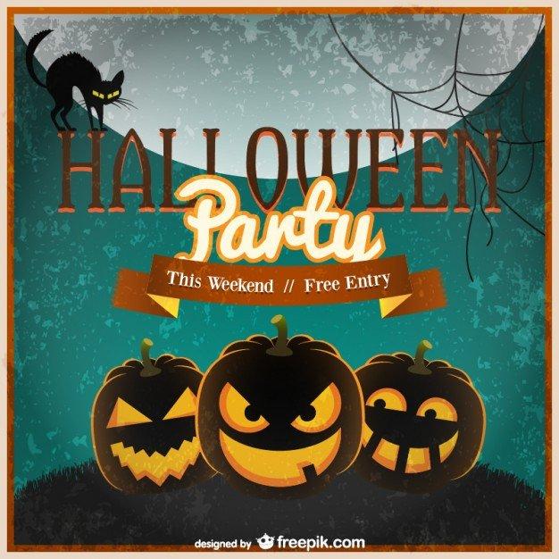 Free Halloween Invite Templates Halloween Invitation Template Vector Vector