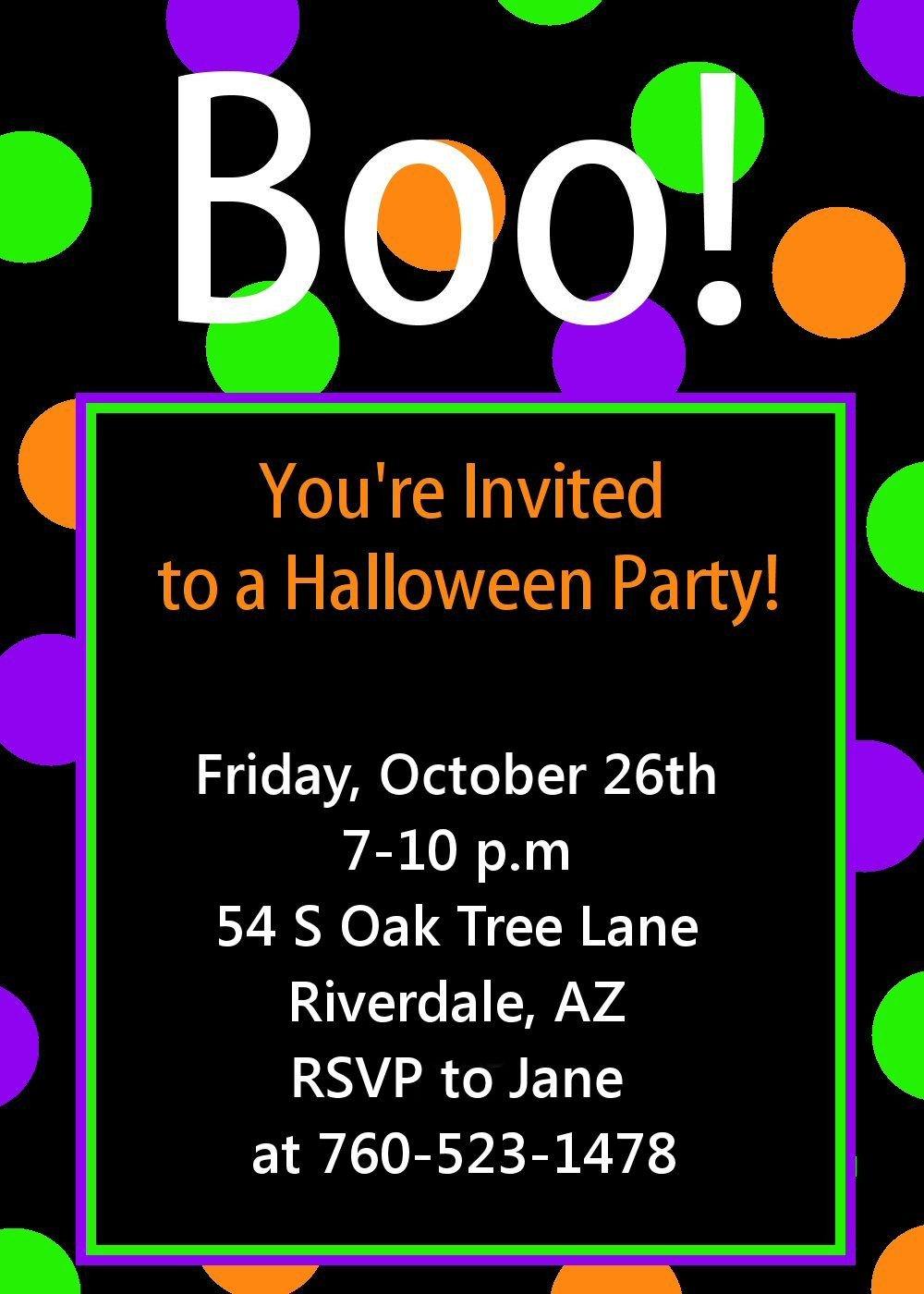 Free Halloween Invite Templates Halloween Party Invitation Printable