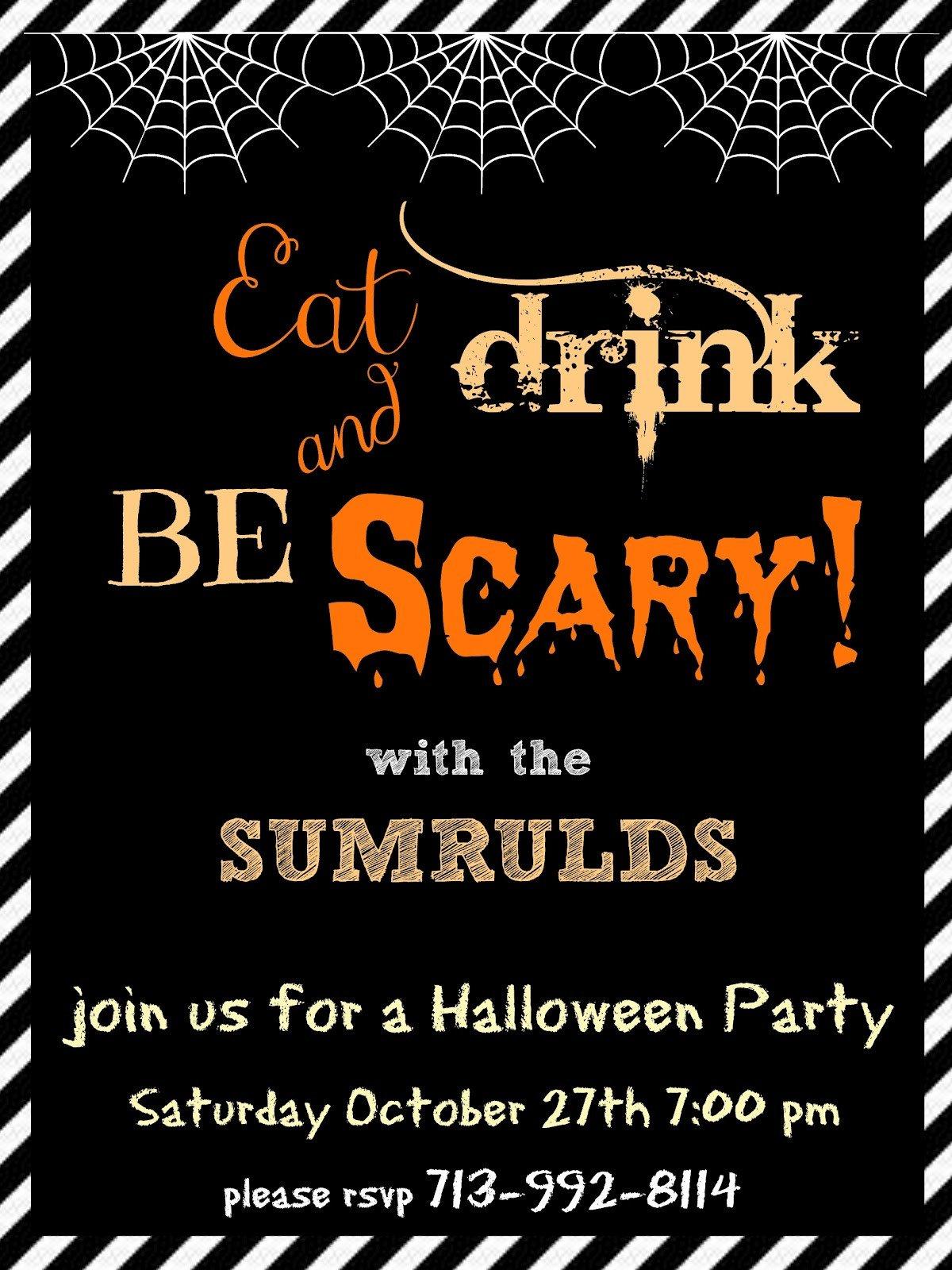 Free Halloween Invite Templates Halloween Party Invitation Templates Free – Festival