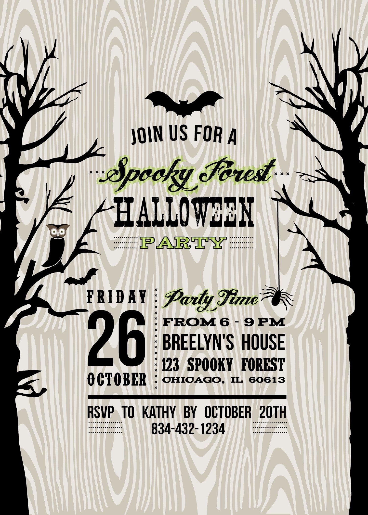 Free Halloween Invite Templates Lucas Halloween Party 2012 anders Ruff Custom Designs Llc