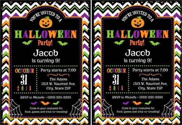 Free Halloween Invite Templates Sample Halloween Invitation Template 9 Free Documents