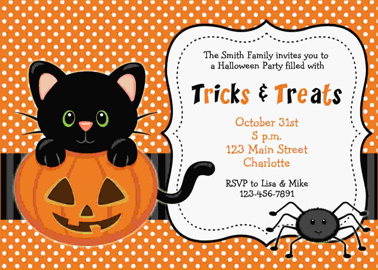 Free Halloween Invites Templates Free Printable Halloween Invitations Templates