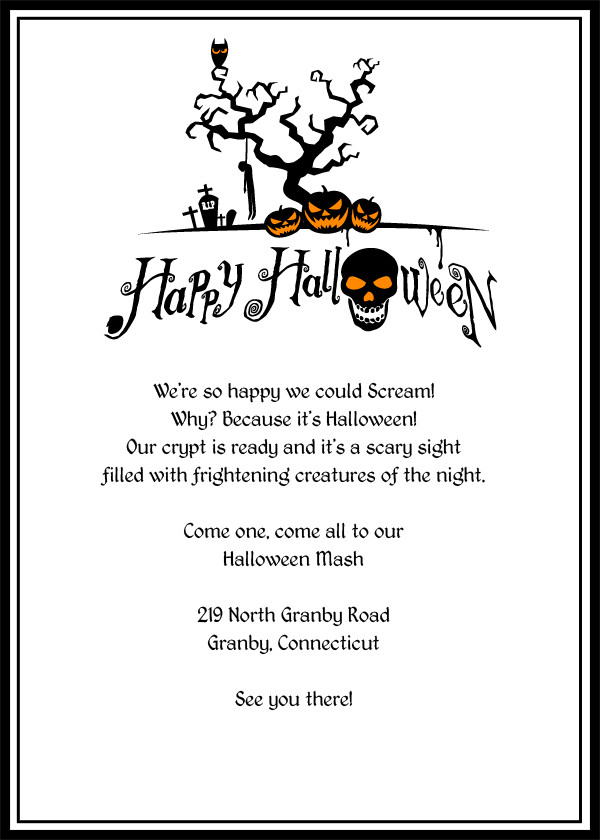 Free Halloween Party Invitation Templates Halloween Invitation Template Editable – Festival Collections