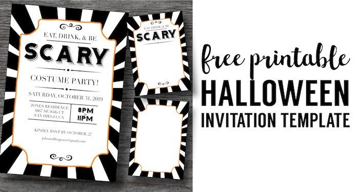 Free Halloween Party Invitation Templates Halloween Invitations Free Printable Template Paper