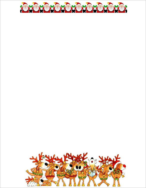 Free Holiday Stationery Templates 17 Christmas Paper Templates Doc Psd Apple Pages