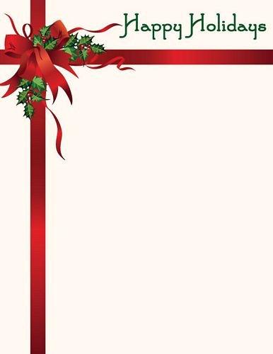 Free Holiday Stationery Templates Christmas Letterhead Happy Holidays Stationery