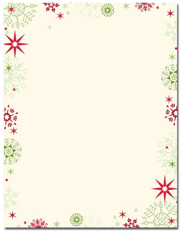 Free Holiday Stationery Templates Red & Green Flakes Letterhead Holiday Papers