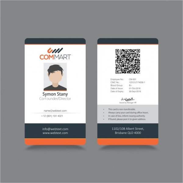Free Id Badge Template 8 Id Badge Templates Psd Vector Eps