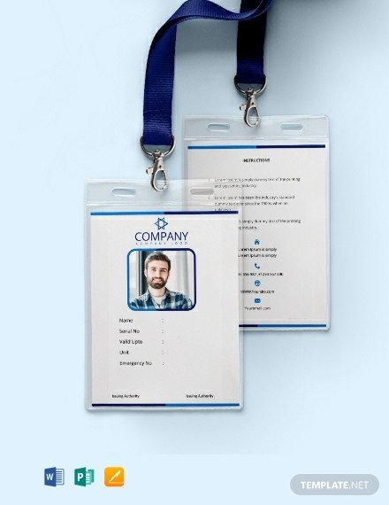 Free Id Badge Template Free Fice Blank Id Card Template Download 668 Cards In