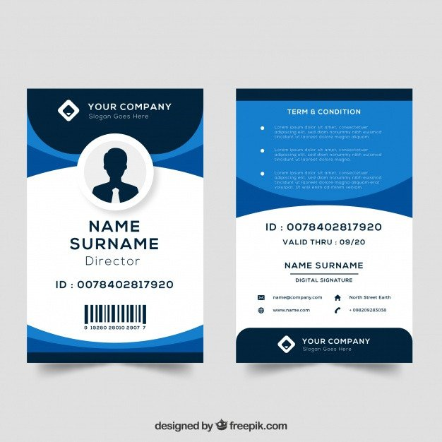 Free Id Badge Template Id Vectors S and Psd Files