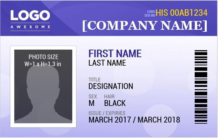 MS word ID Badge Sample Template