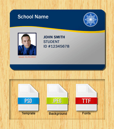 Free Id Badge Template Student Id Templates Download