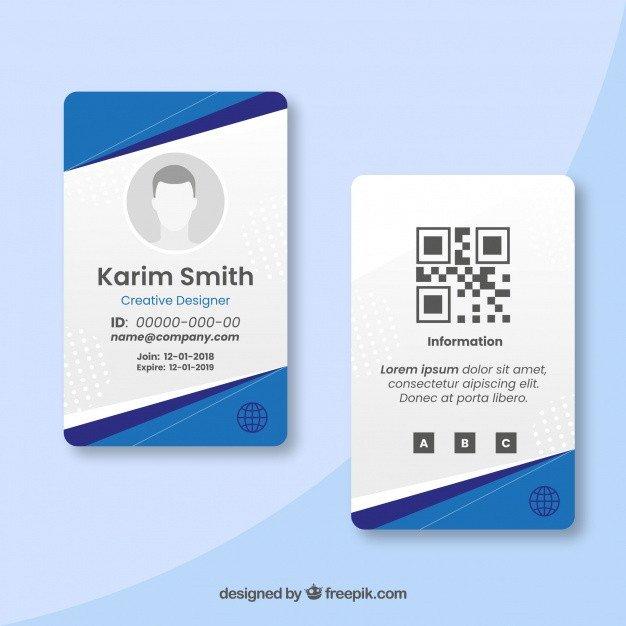 Free Id Card Templates Membership Card Vectors S and Psd Files