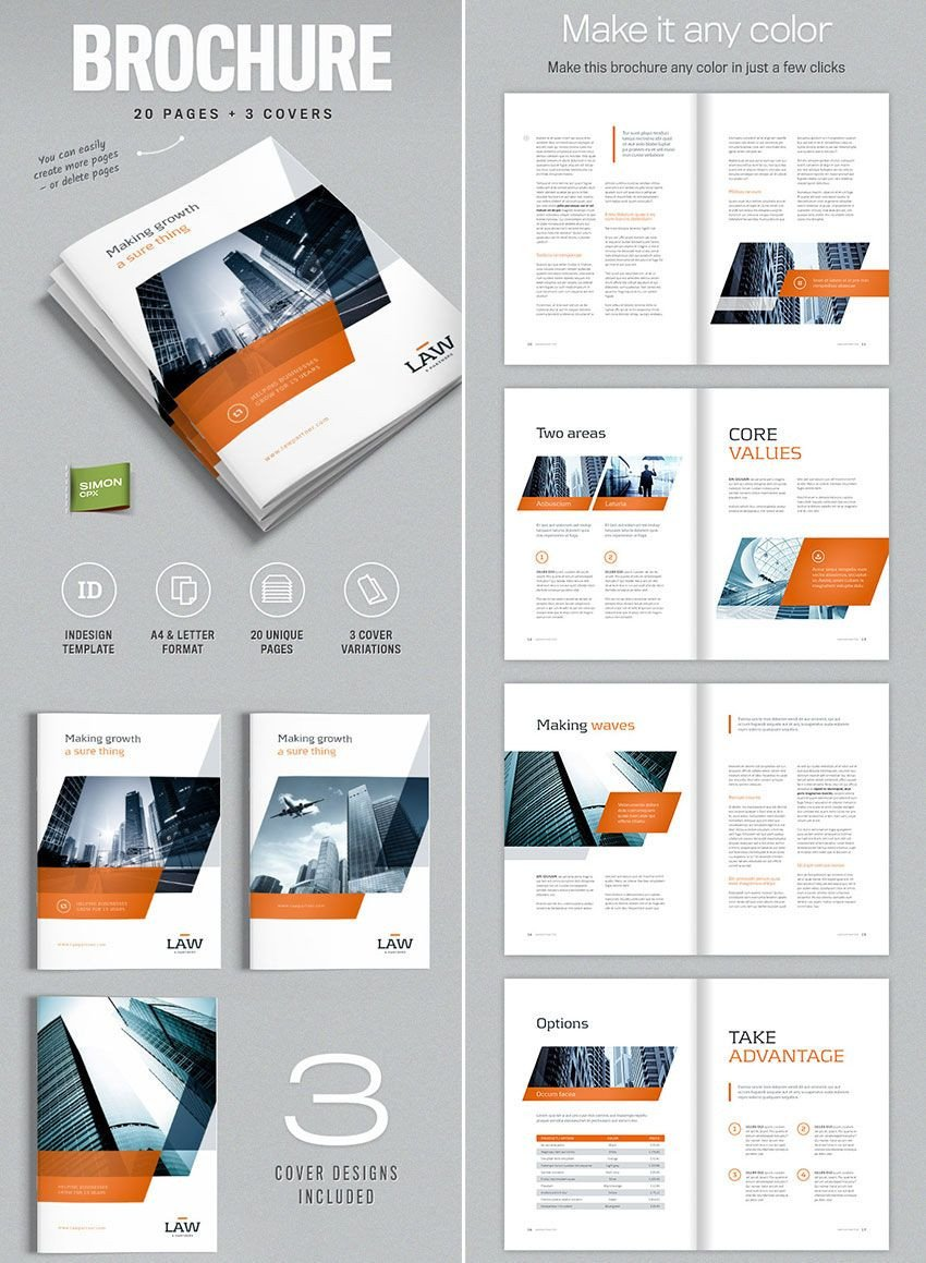 Free Indesign Flyer Templates Brochure Template for Indesign A4 and Letter