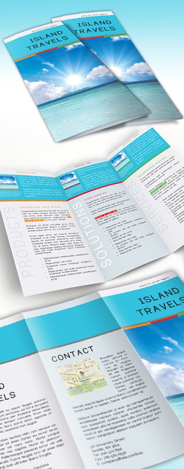 Free Indesign Flyer Templates Free Indesign Tri Fold Brochure Template