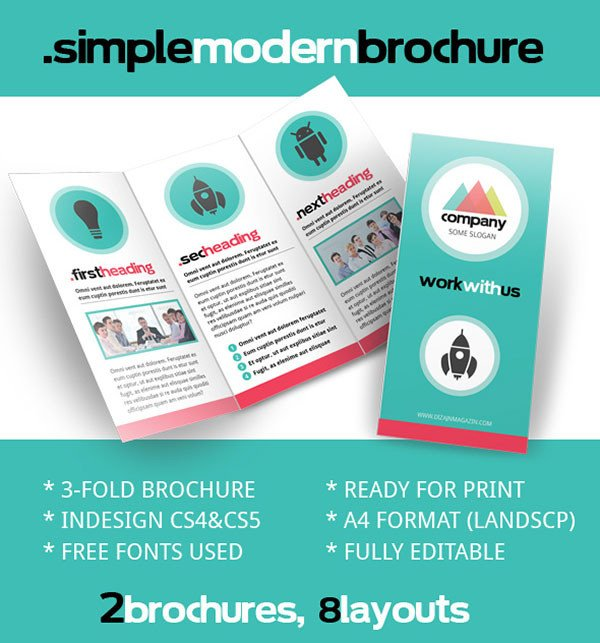 Free Indesign Flyer Templates Free Psd Indesign & Ai Brochure Templates