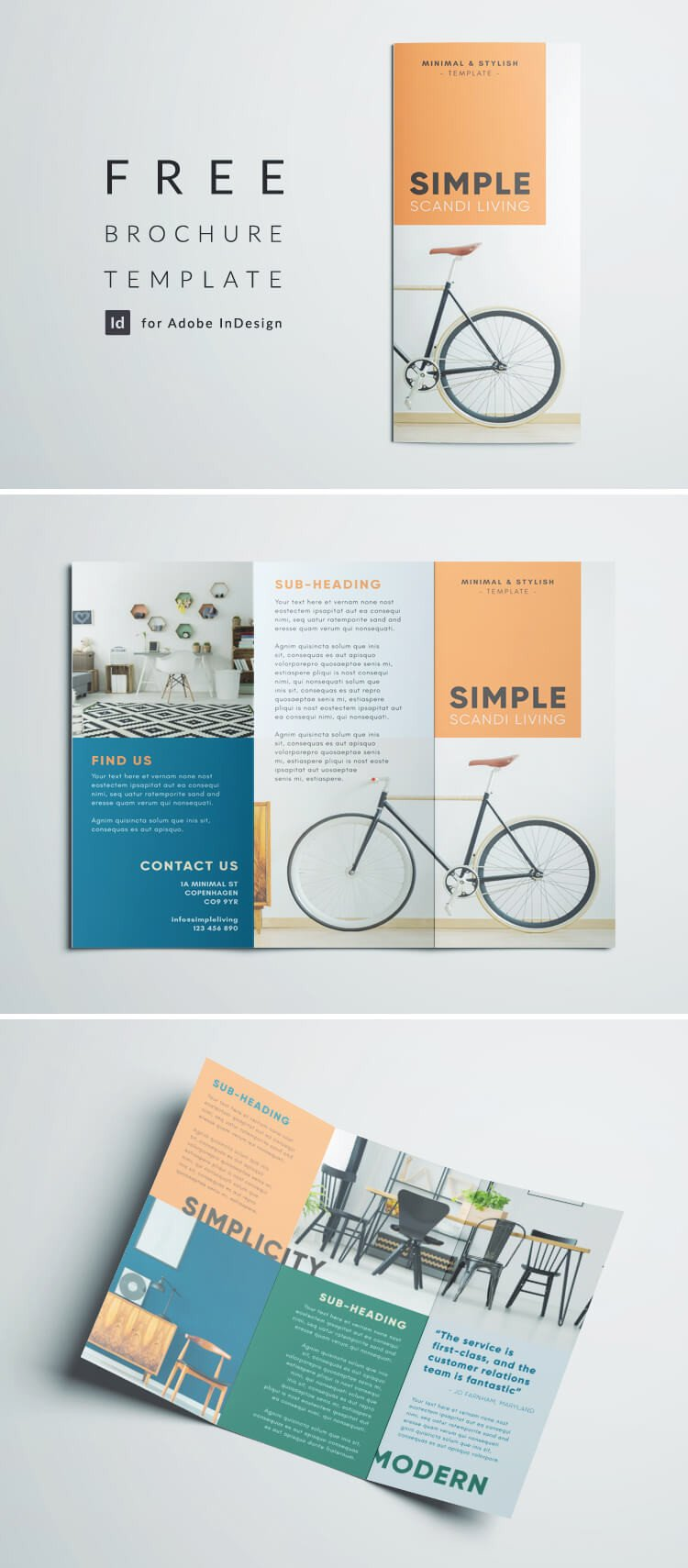 Free Indesign Flyer Templates Simple Tri Fold Brochure
