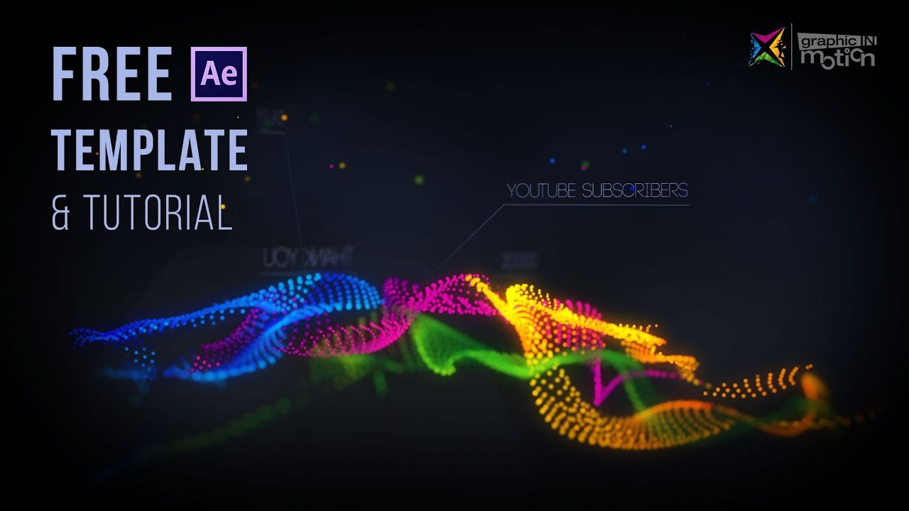 Free Intro Templates after Effects Particle Waves Intro Free after Effects Template
