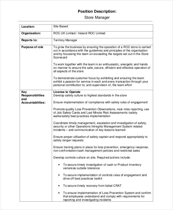 Free Job Description Template 15 Job Description Templates Free Sample Example