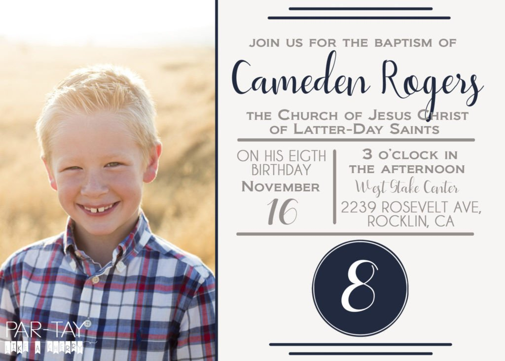 Free Lds Baptism Invitation Template Free Lds Baptism Announcement Template Party Like A Cherry