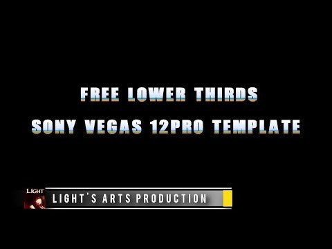 Free Lower Thirds Templates Free sony Vegas 12pro Lower Thirds Template