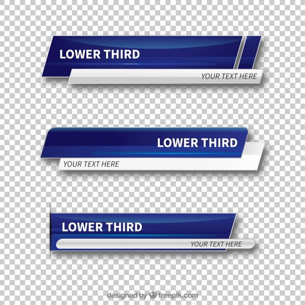Free Lower Thirds Templates Lower Third Vectors S and Psd Files