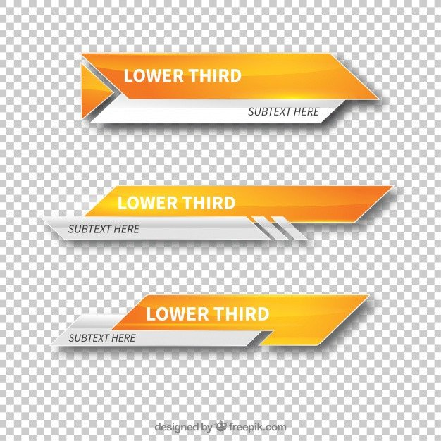 Free Lower Thirds Templates Modern Lower Third Templates Vector