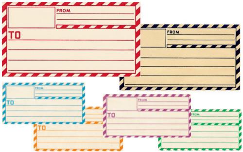 Free Mail Label Template Printable Vintage Gummed Labels Inspired by Dennison