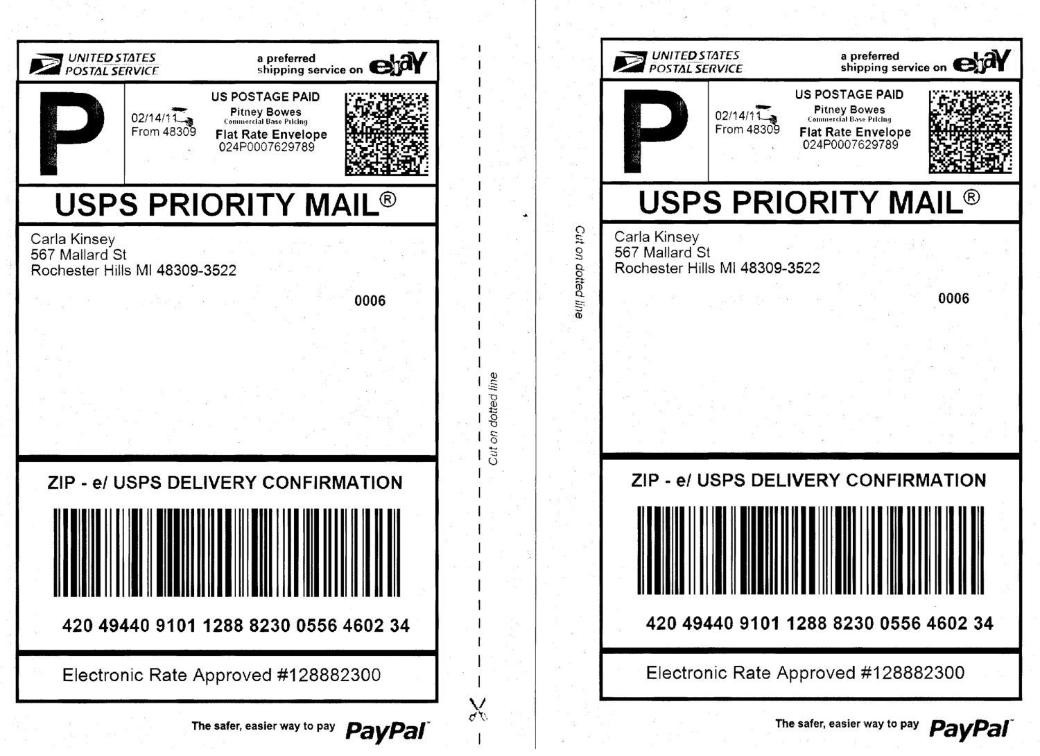 Free Mail Label Template Shipping Label Template Usps