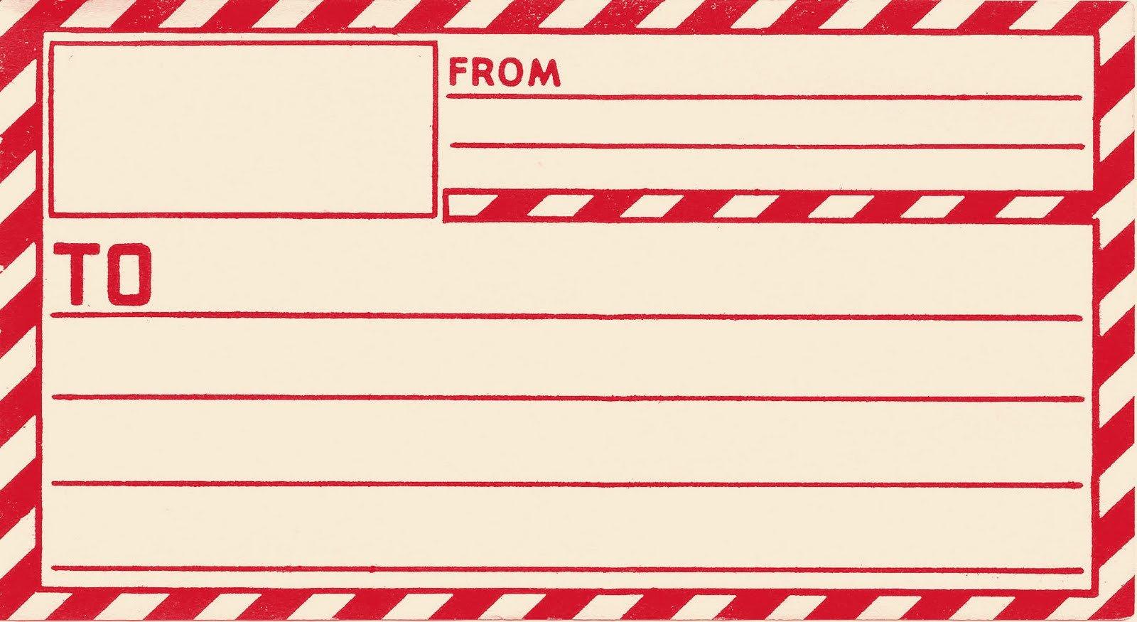 Free Mail Label Template Vintage Clip Art Old Gummed Parcel Post Label the