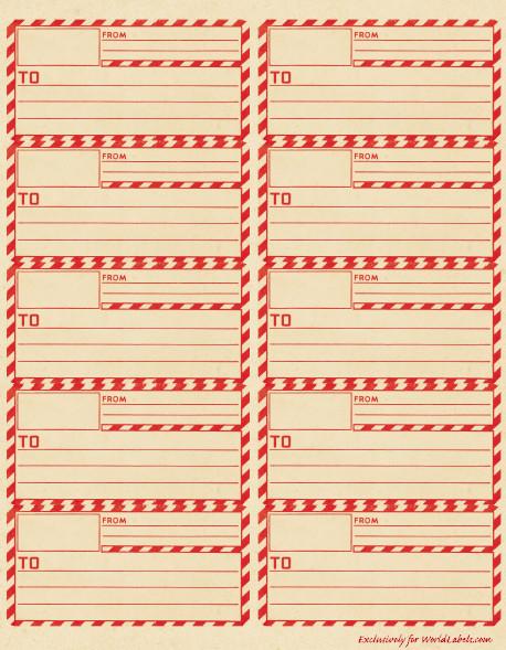 Free Mail Label Template Vintage Gummed Parcel Post Shipping Labels