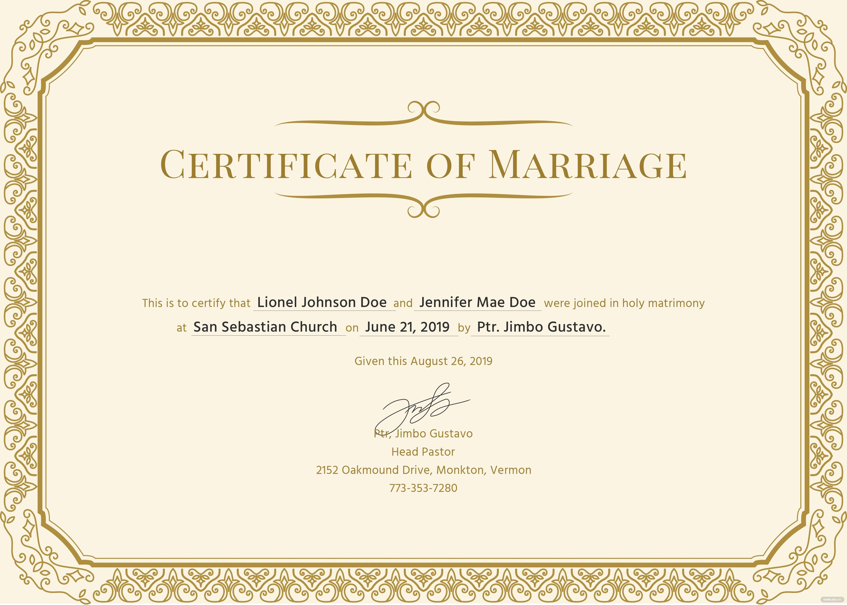 Free Marriage Certificate Template Free Marriage Certificate Template In Psd Ms Word