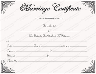 Free Marriage Certificate Template Free Marriage Certificate Templates Editable & Printable