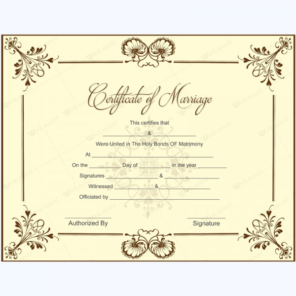 Free Marriage Certificate Template Marriage Certificate 05 In 2019 Microsoft
