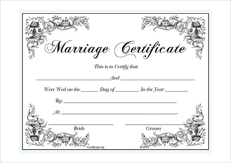 Free Marriage Certificate Template Marriage Certificate Template Microsoft Word Selimtd