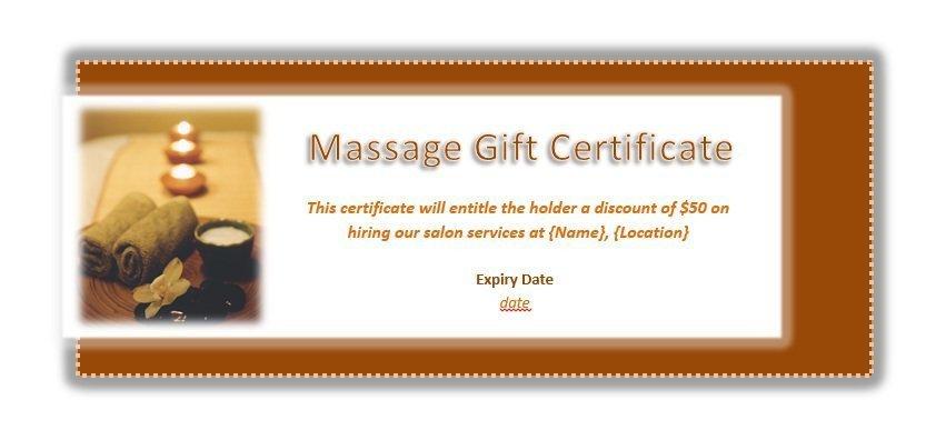 Free Massage Gift Certificate Template Free Printable Gift Certificate Templates for Massage