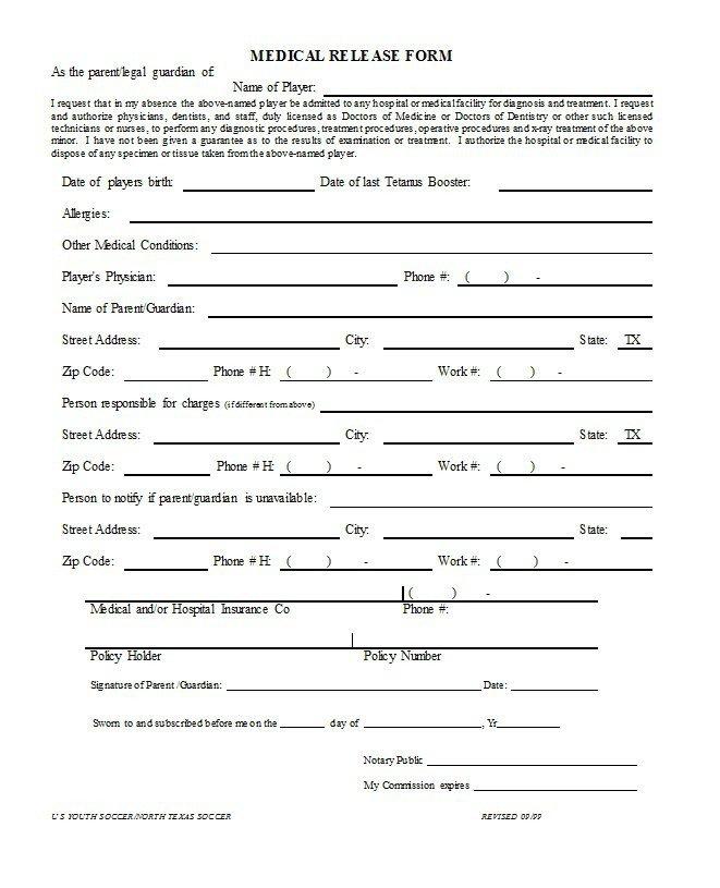 Free Medical Release form 30 Medical Release form Templates Template Lab
