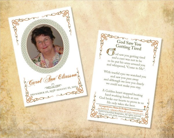 Free Memorial Card Template 17 Funeral Card Templates Psd Ai