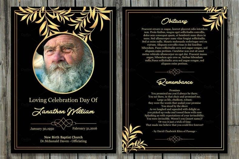 Free Memorial Card Template 17 Funeral Memorial Card Designs & Templates Psd Ai
