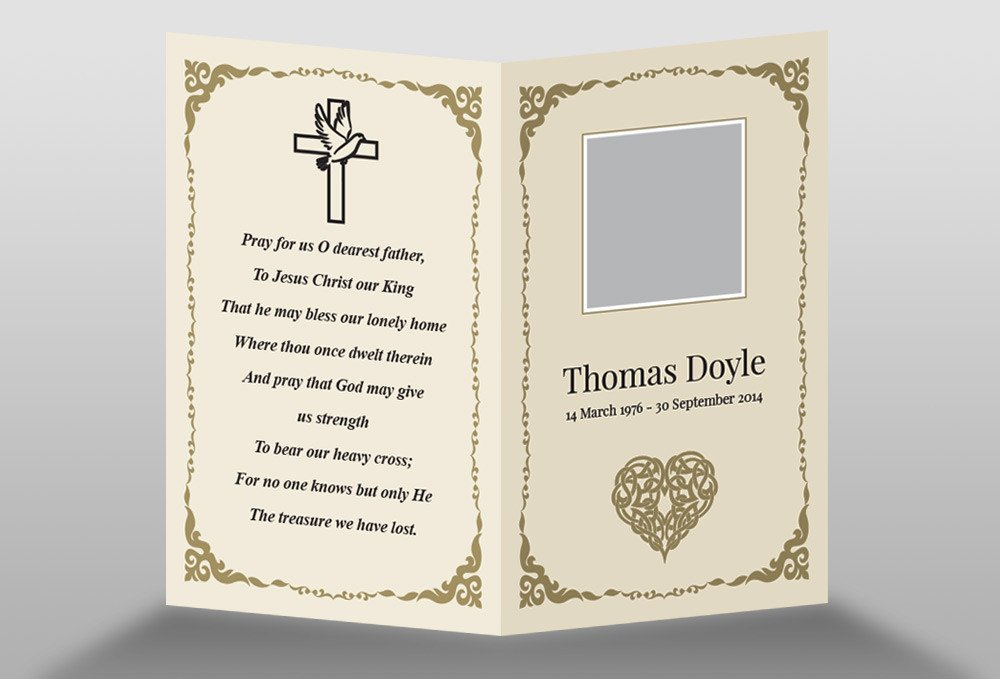 Free Memorial Card Template in InDesign Format Download