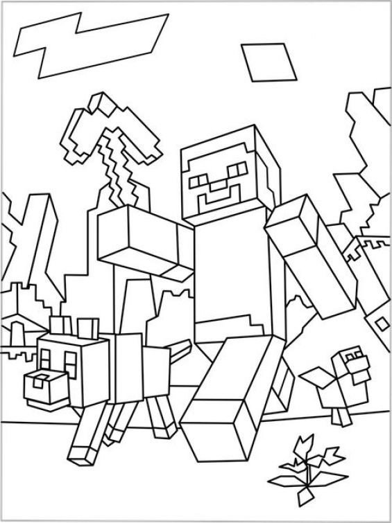 Free Minecraft Coloring Pages Free Minecraft Coloring Sheet to Print Out