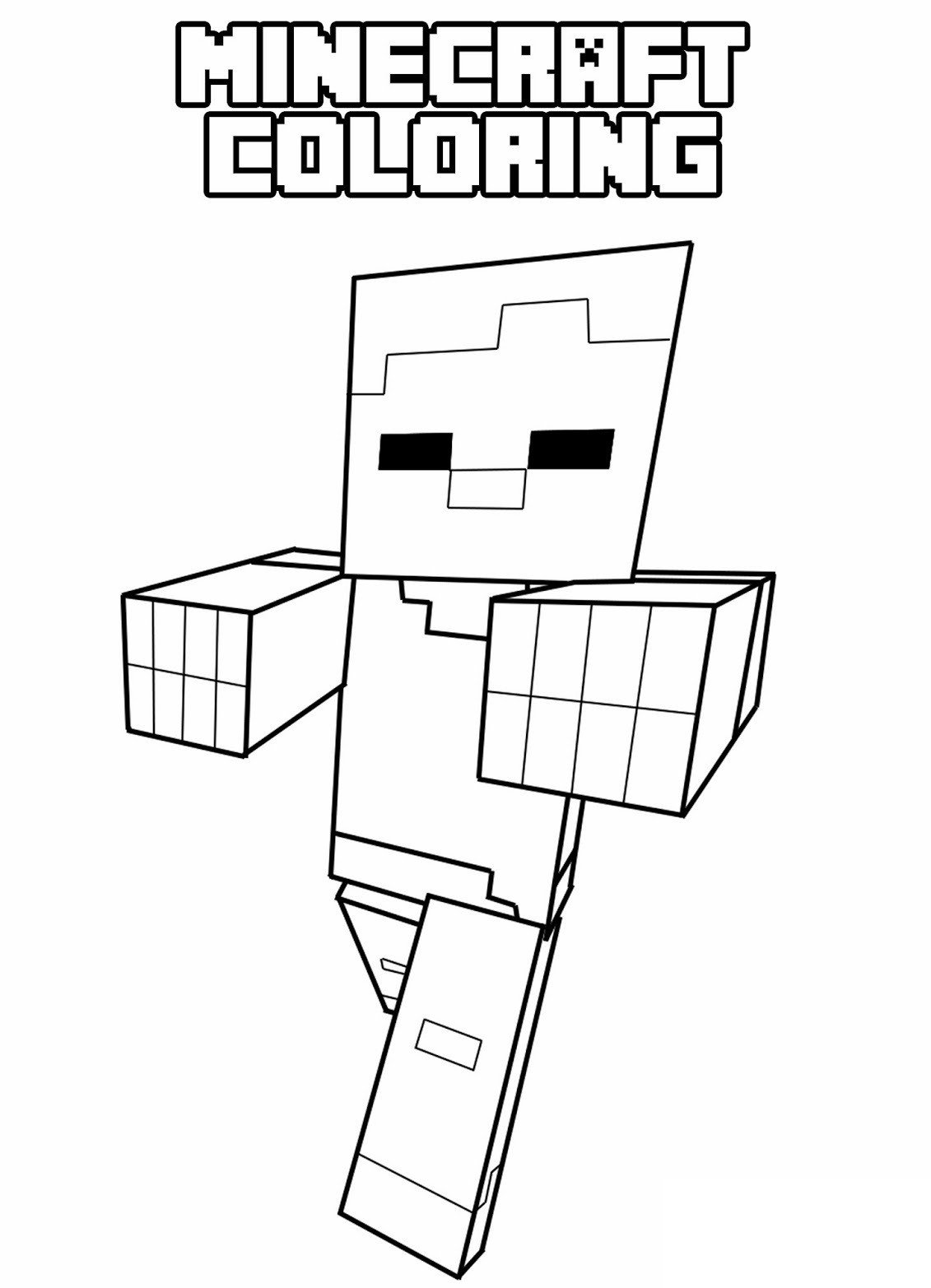 Free Minecraft Coloring Pages Minecraft Coloring Pages for Kids
