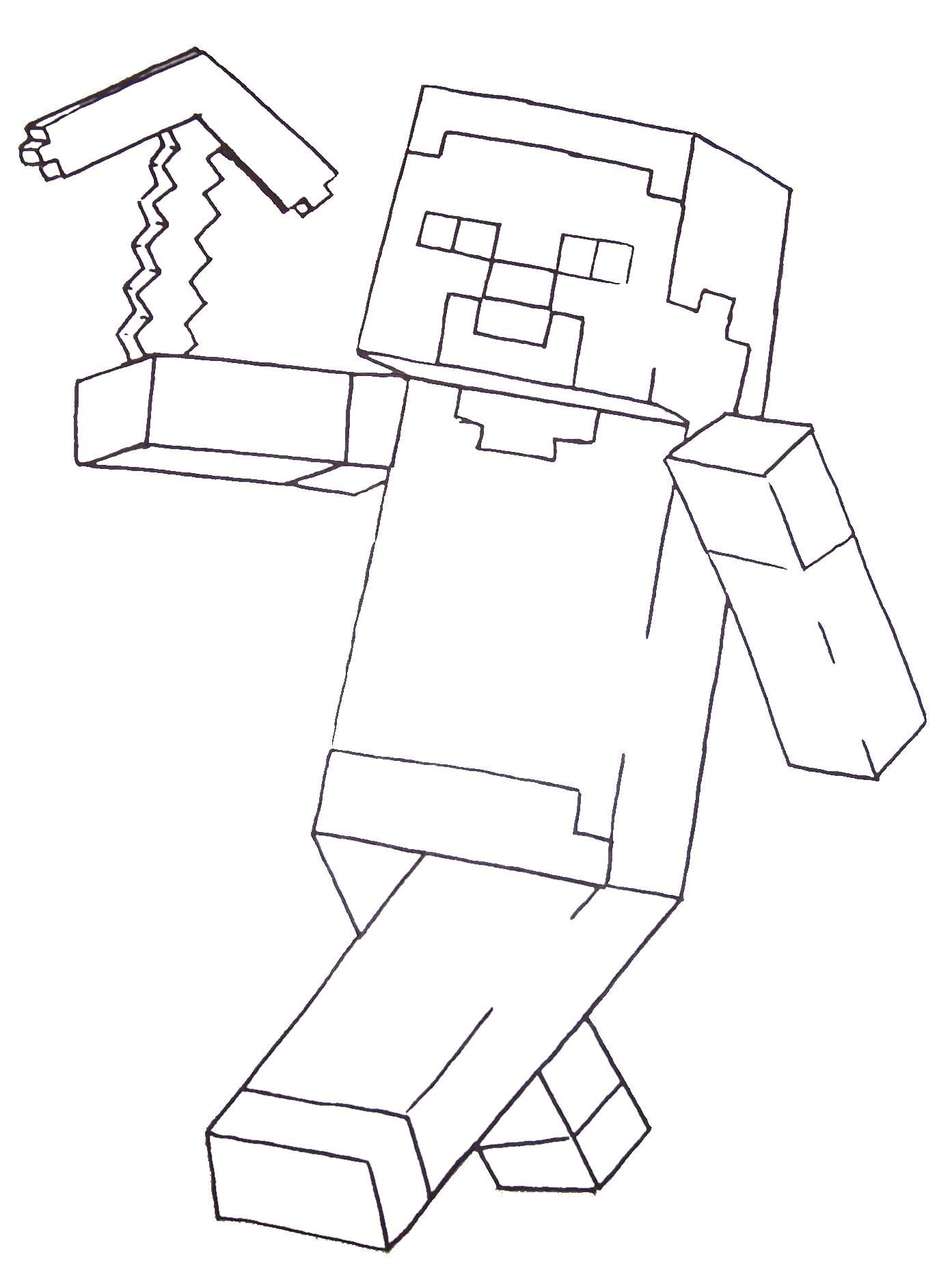 Free Minecraft Coloring Pages Minecraft Steve Coloring Pages Printable