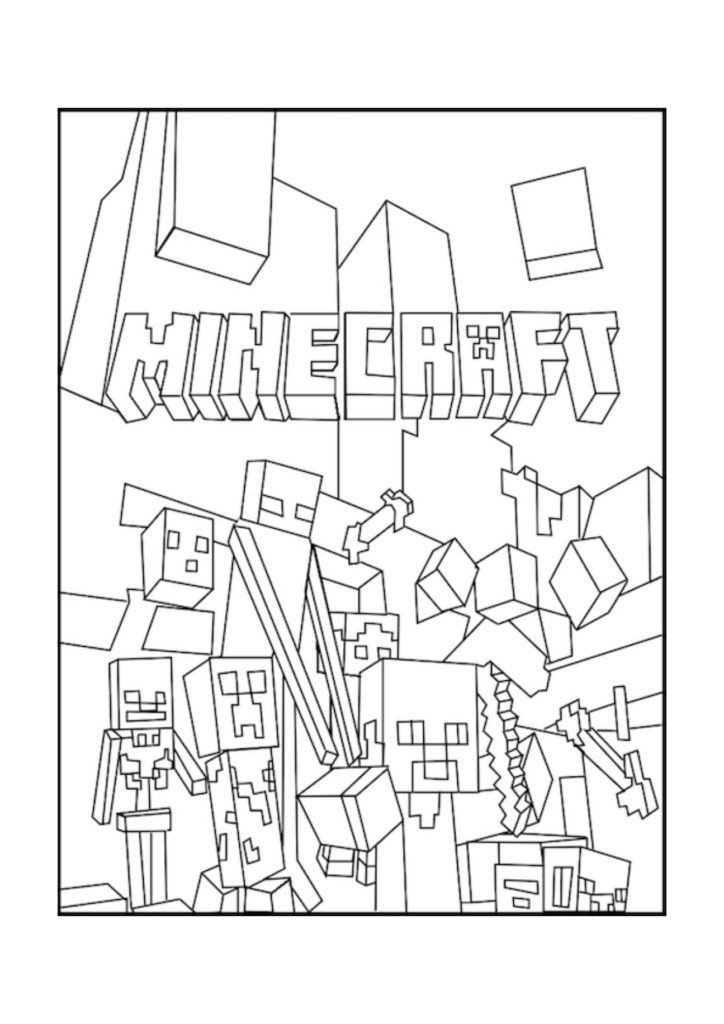 Free Minecraft Coloring Pages Printable Minecraft Coloring Pages Coloring Home